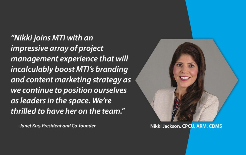 Nikki Jackson: New MTI America Vice President of Marketing